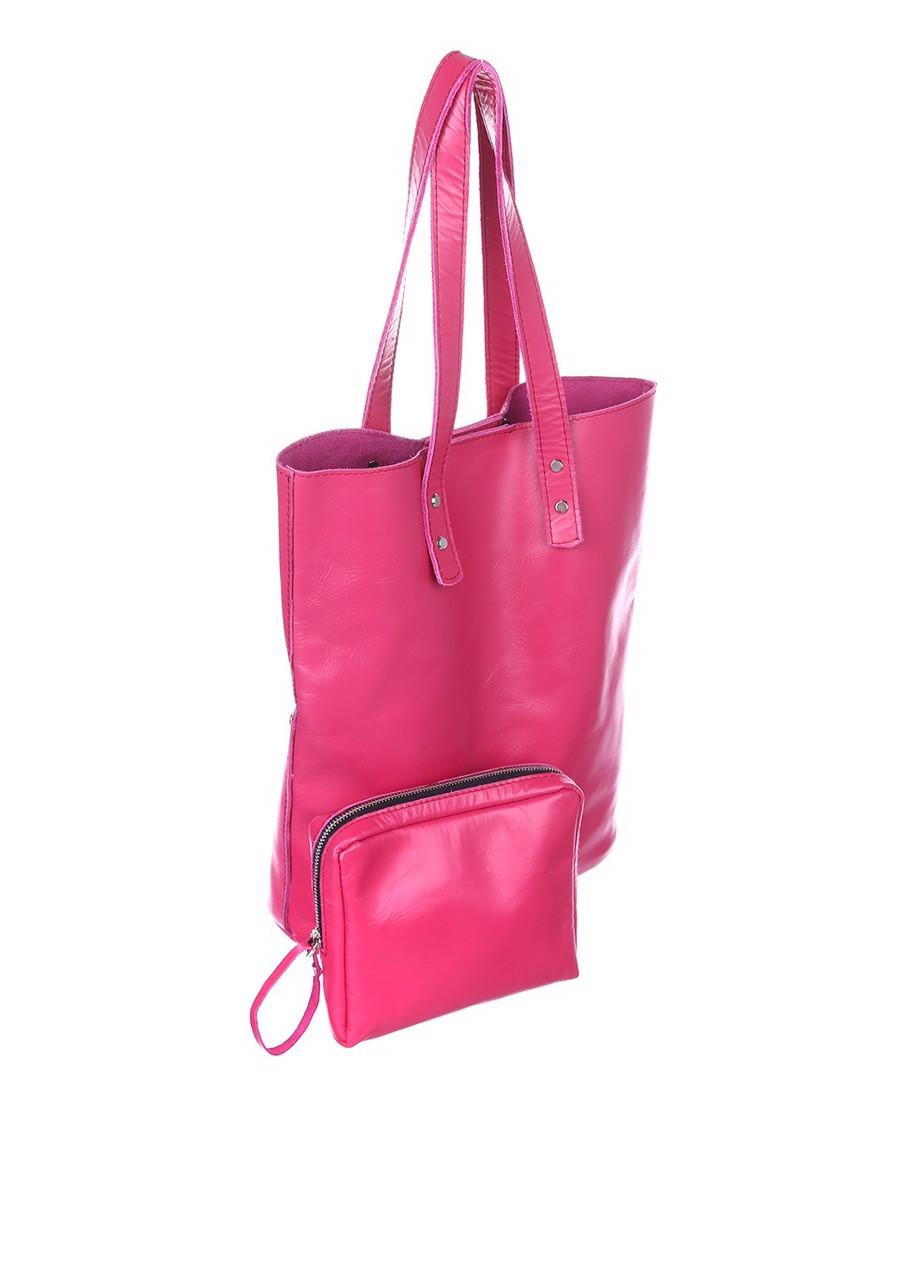 сумка кожаная цвета фуксия купить