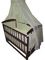 Акция! Комплект: кроватка маятник Наталка, матрас кокос, постель 8 эл.