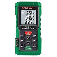 Лазерный дальномер ( лазерная рулетка ) Mastech MS6416 (0,046-60 м) проводит измерения V, S, H, память 99, фото 1
