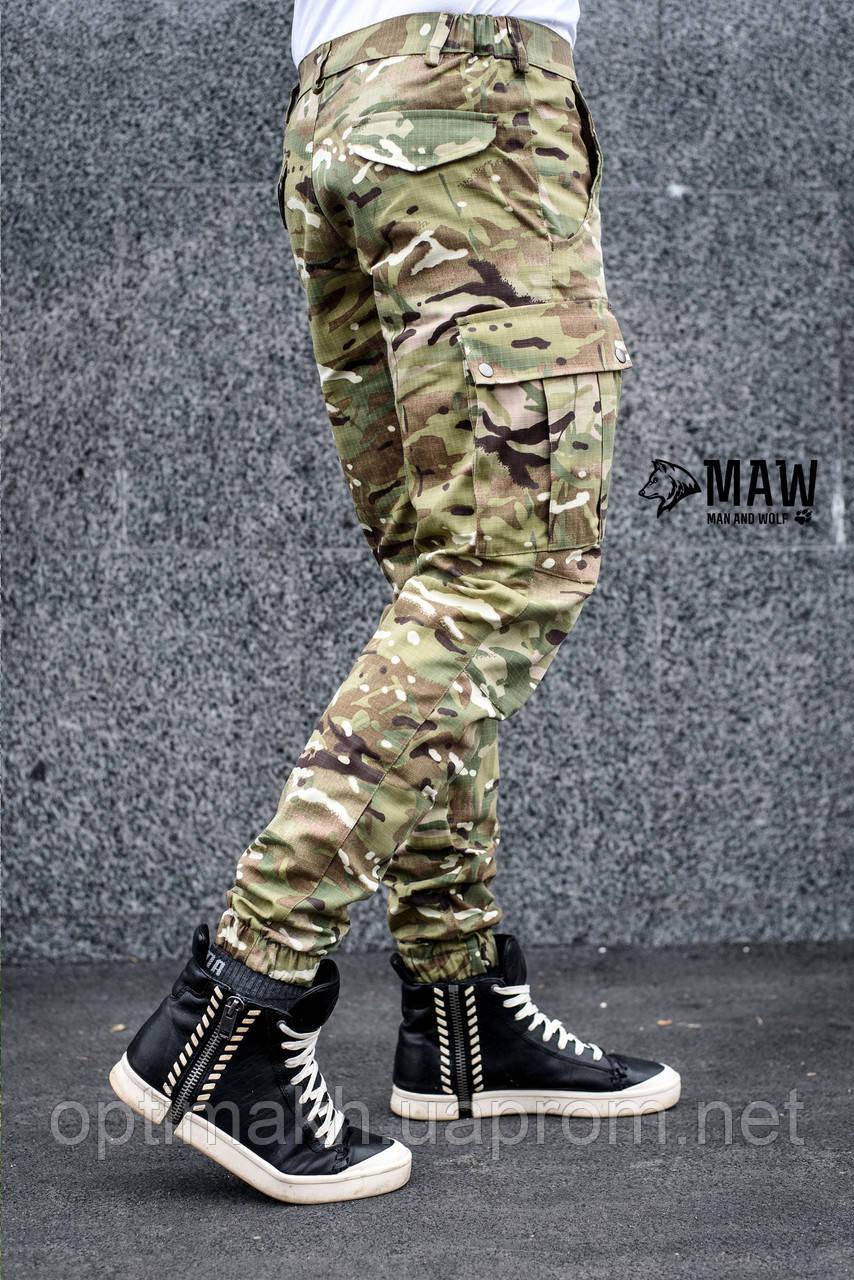 Штаны карго мужские милитари мультикам Cargo MAN AND WOLF street wear рип-стоп (50/50)    - MAW man&wolf в Харькове