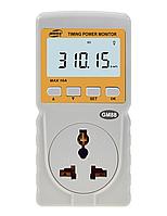 Измеритель параметров потребления электроэнергии Benetech GM88 (до 10А) с таймером и часами