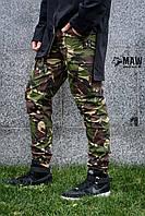 Штаны карго мужские британка Cargo MAW Manandwolf street wear рип-стоп (50/50)