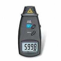 Лазерный бесконтактный тахометр Walcom DT-6234В (50-500мм) (2,5-99999 об/мин), фото 1