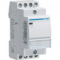 Контактор ESC425S 25А, 4НО, 230В безшумний модульний Hager