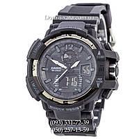 Электронные часы Casio G-Shock GW A1100 Black Silver, спортивные часы Джи Шок(черные)