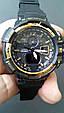 Электронные часы Casio G-Shock GW A1100 Black Gold, спортивные часы Джи Шок(черно золотистые), реплика отличное качество!, фото 3
