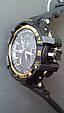 Электронные часы Casio G-Shock GW A1100 Black Gold, спортивные часы Джи Шок(черно золотистые), реплика отличное качество!, фото 7