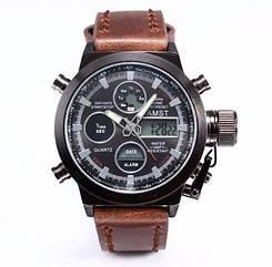 Армейские часы AMST 3003, кварцевые, противоударные, армейские часы АМСТ 3030, реплика отличное качество!