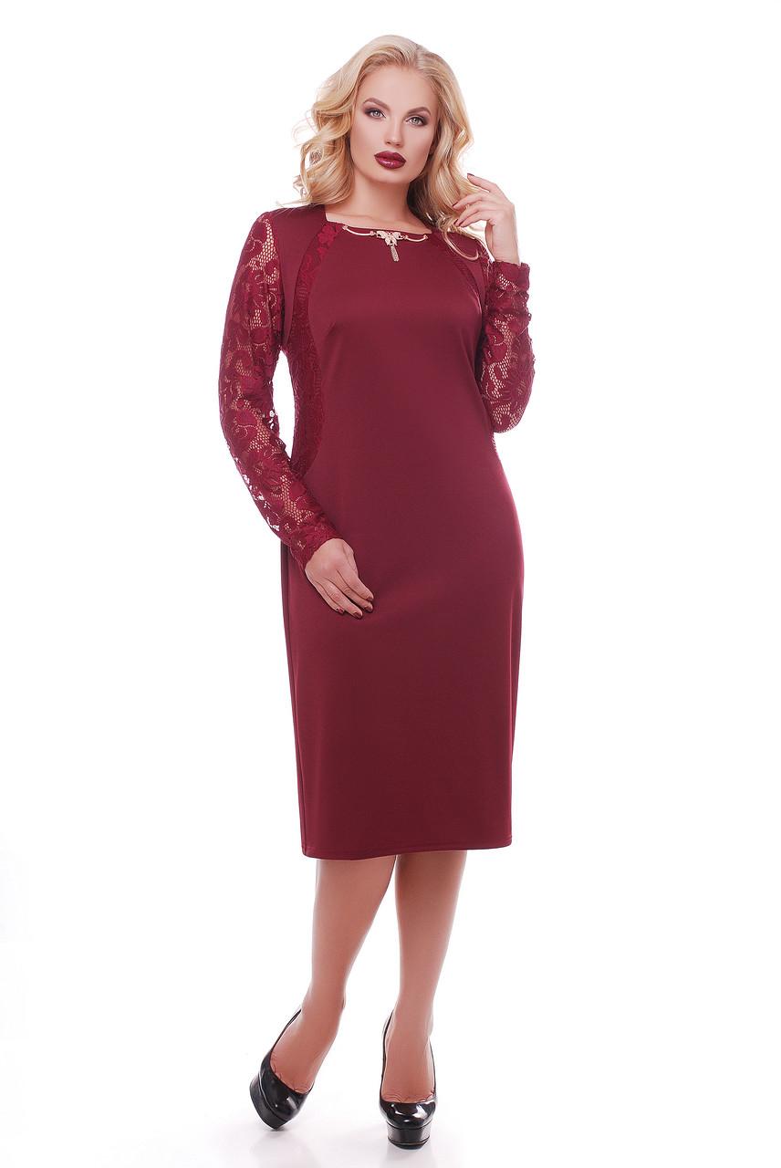 Нарядное платье Аделина марсала