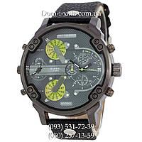 Мужские часы Diesel Brave black, кварцевые, элитные часы Дизель Брейв, кожаный ремешек