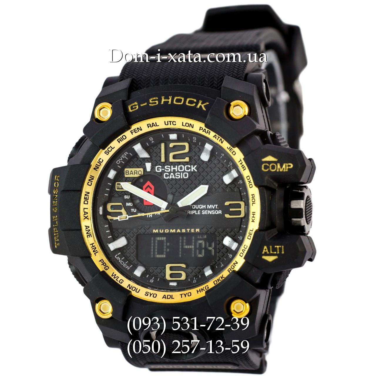 Электронные часы Casio G-Shock GWG 1000 Black/Gold, спортивные часы Джи Шок(черно-золотистые), реплика отличное качество!