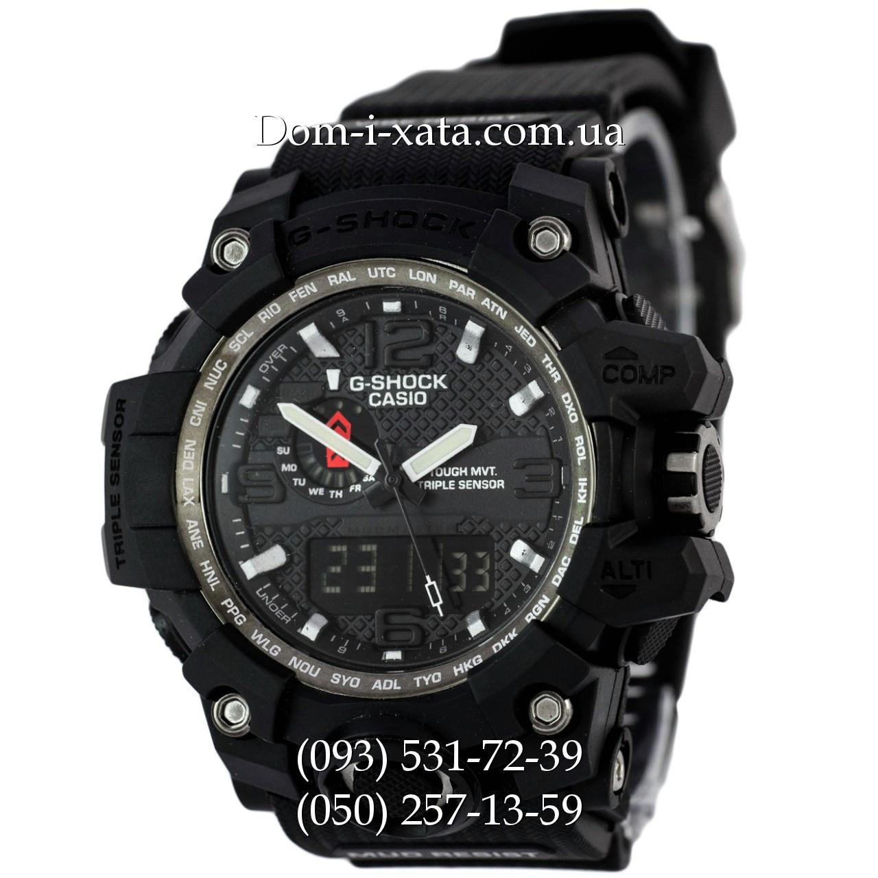 Электронные часы Casio G-Shock GWG 1000 Black, спортивные часы Джи Шок черные, реплика отличное качество!