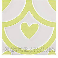 Плитка для стен Pamesa  AGATHA COEUR PISTACHO 25x25