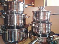 Набор посуды из нержавеющей стали Австрия 9 слоев 12 предметов