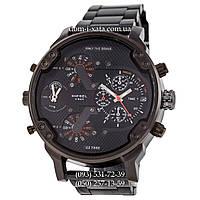 Мужские часы Diesel DZ7314 Steel All Black-Orange, кварцевые, элитные часы Дизель Брейв, стальной ремешек