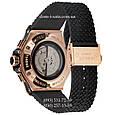 Мужские наручные часы Hublot Big Bang Automatic Black-Gold-Black, механические часы с автоподзаводом Хублот, реплика отличное качество!, фото 2