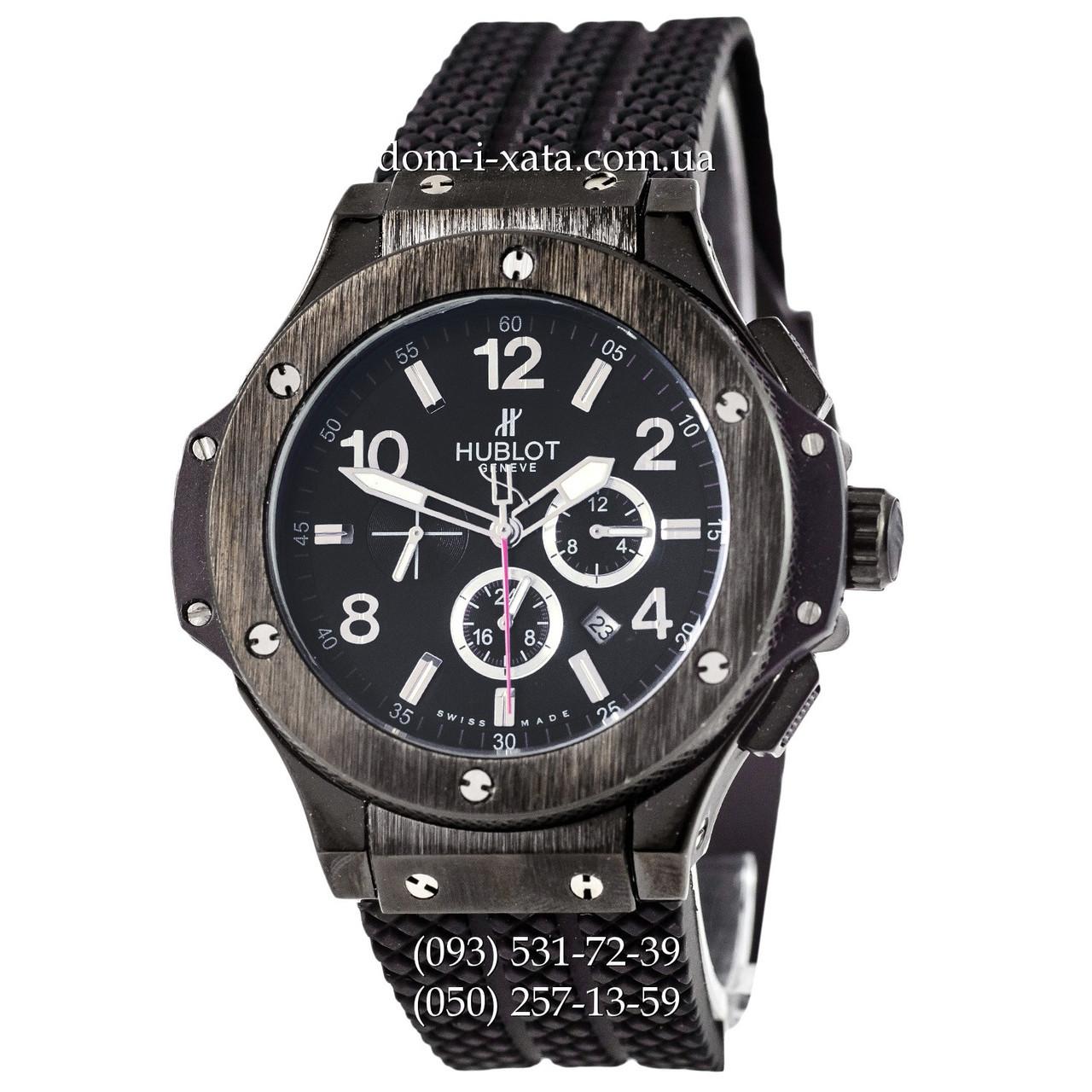 Мужские наручные часы Hublot Big Bang All Black, механические часы с автоподзаводом Хублот, реплика