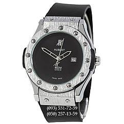 Мужские наручные часы Hublot Classic Fusion MDM Black-Silver-Black, Хублот классик