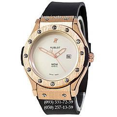 Мужские наручные часы Hublot Classic Fusion MDM Black-Gold-White, Хублот классик, реплика отличное качество!
