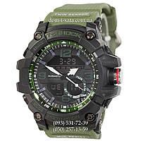 Электронные часы Casio G-Shock GG-1000 Black-Militari Wristband, спортивные часы Джи Шок черный-зеленый