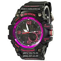 Электронные часы Casio G-Shock GG-1000 Black-Violet, спортивные часы Джи Шок черный-зеленый