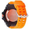 Электронные часы Casio G-Shock GG-1000 Black-Orange Wristband, спортивные часы Джи Шок черный-зеленый, реплика, фото 2