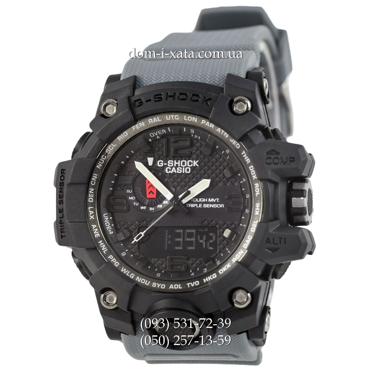 Электронные часы Casio G-Shock GWG-1000 Black-Gray Wristband, спортивные часы Джи Шок черный-серый, реплика отличное качество
