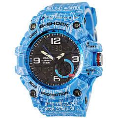 Электронные часы Casio G-Shock GG-1000 Mud-Light-Blue, спортивные часы Джи Шок синий, реплика отличное качество!