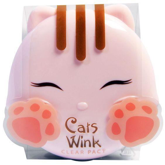 Матирующая и очищающая пудраTony Moly Cats Wink Clear Pact №2 - Clear Beige