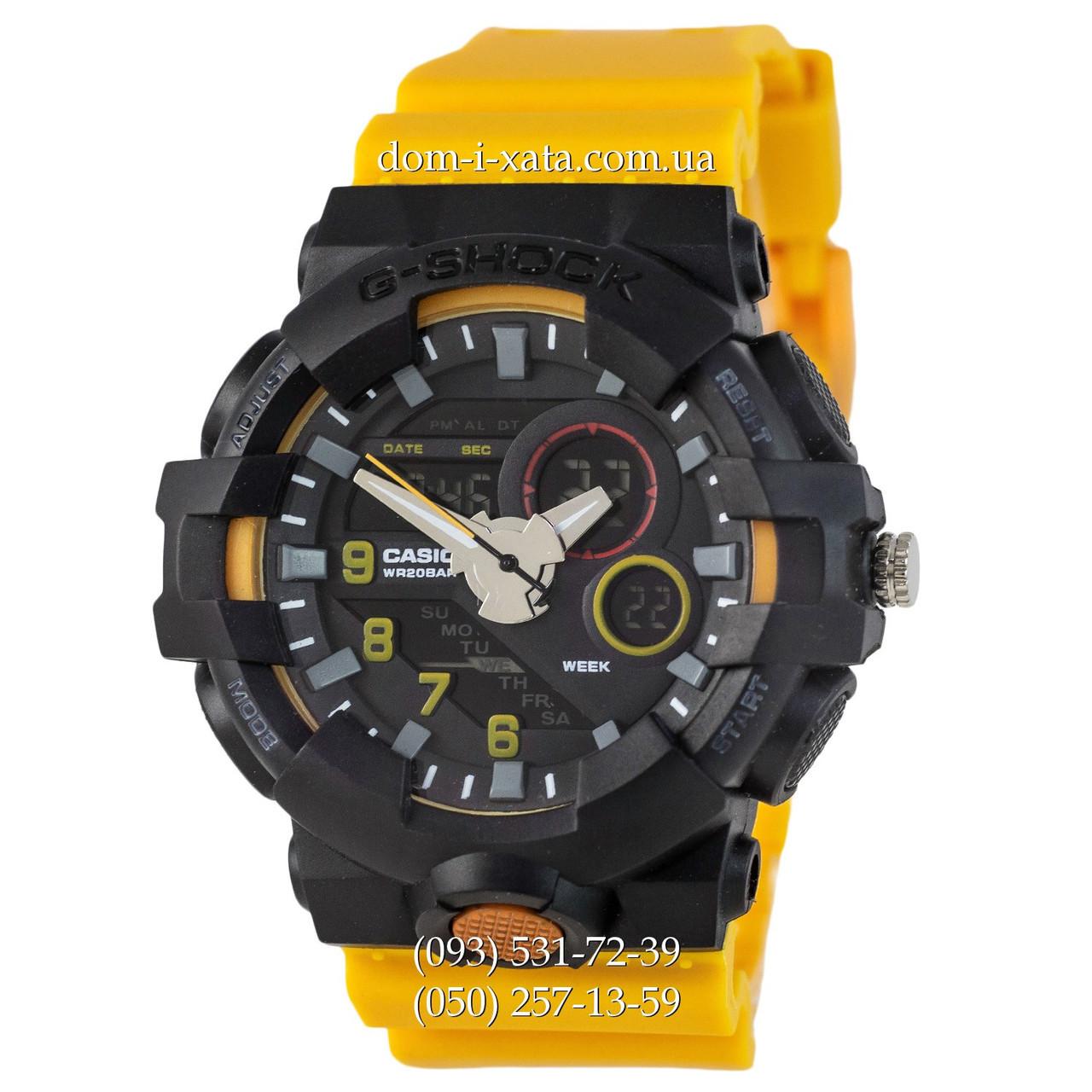 Электронные часы G-Shock Casio GWL-50 Black-Yellow Wristband, спортивные часы Джи Шок черный-желтый , реплика отличное качество!