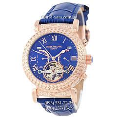 Мужские часы Patek Philippe Grand Complications Power Tourbillon Blue-Gold-Blue, механические, элитные часы, реплика отличное качество