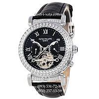 Мужские часы Patek Philippe Grand Complications Power Tourbillon Black-Silver, механические, элитные часы