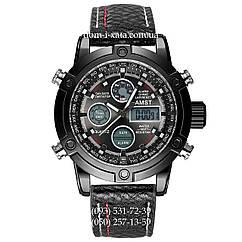 Армейские часы AMST 3022 All Black Fluted Wristband