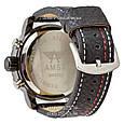 Армейские часы AMST 3022 Black-Red Fluted Wristband, кварцевые, противоударные, армейские часы АМСТ черный, реплика отличное качество!, фото 2