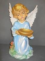 Ангел с чашей №2 (цветной), 34 см.