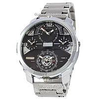 Мужские наручные часы Diesel DZ7361 Steel Silver-Black, кварцевые, элитные часы Дизель Стил Брейв