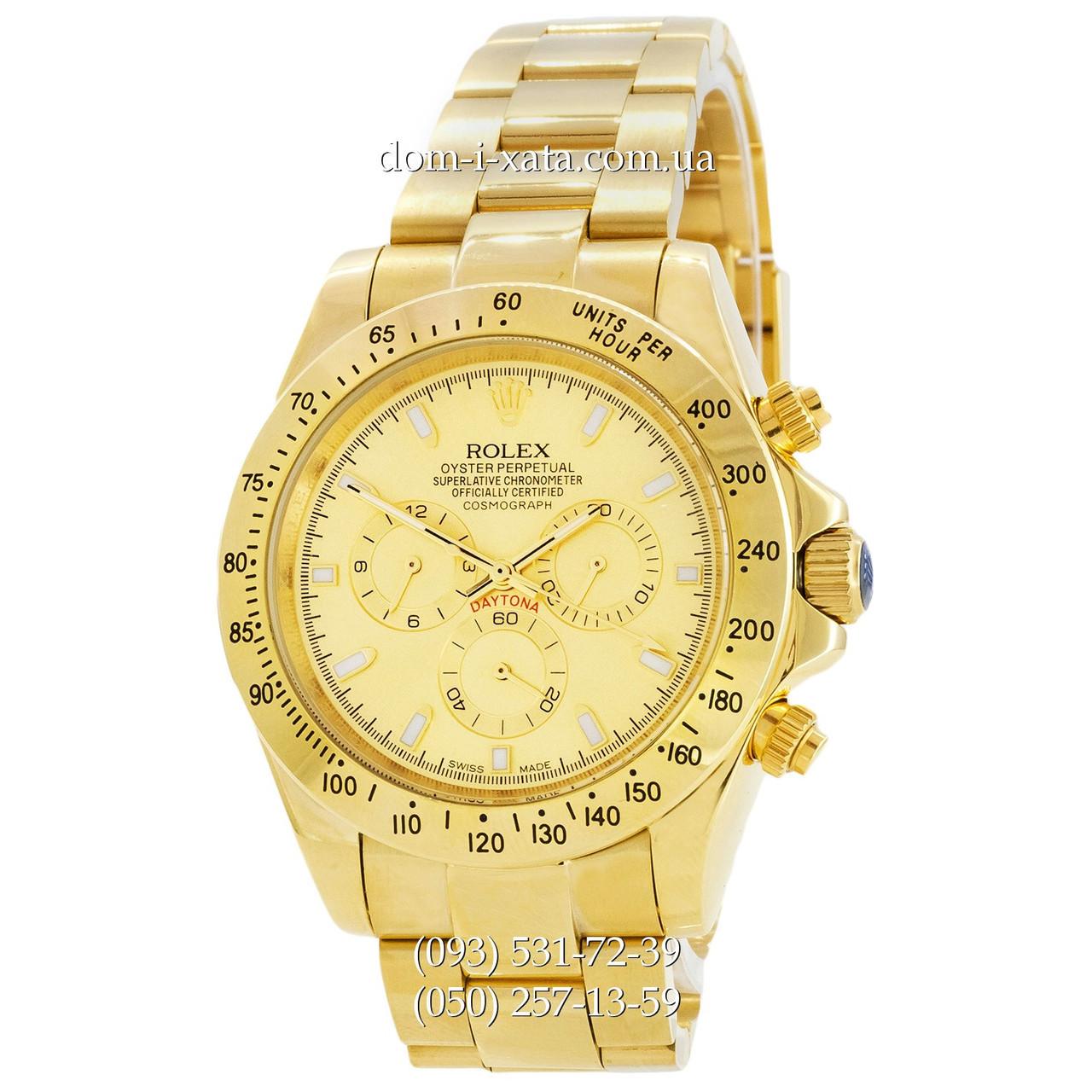 Мужские часы Rolex Daytona AAA Mechanic Gold, механические часы Ролекс Дайтона качество, реплика отличное качество