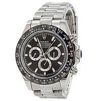 Мужские часы Rolex Daytona AAA Silver-Black-Black, механические часы Ролекс Дайтона качество, реплика отличное качество!