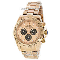 Мужские часы Rolex Daytona AAA Gold-Black-Rose, механические часы Ролекс Дайтона качество
