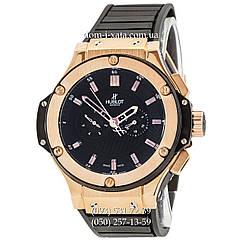 Мужские наручные часы Hublot King Power Automatic Black-Gold-Black, механические часы с автоподзаводом Хублот, реплика отличное качество!