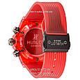 Мужские наручные часы Hublot Big Bang Quartz Unico Sapphire Red, кварцевые часы с хронографом Хублот, реплика отличное качество!, фото 2
