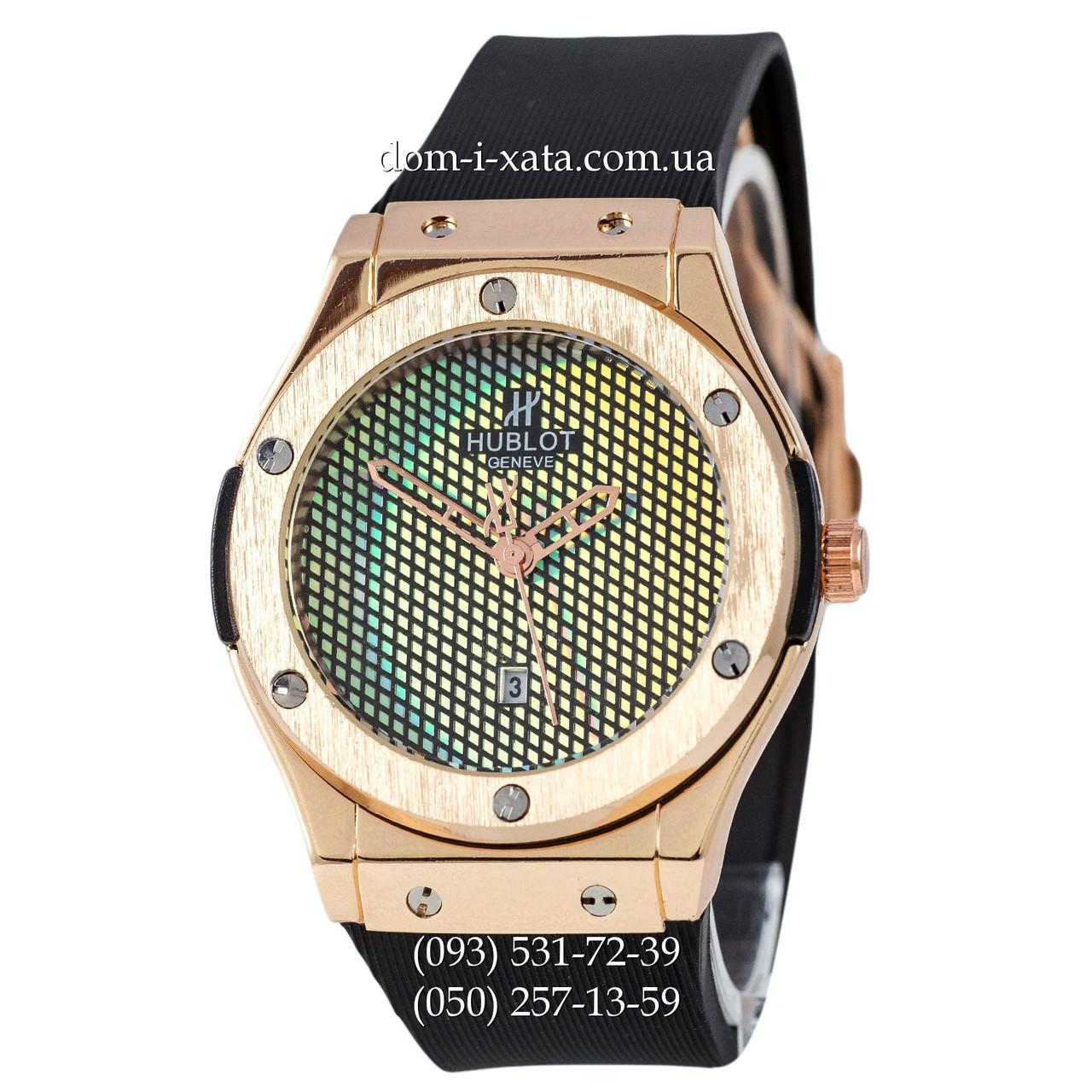 Мужские наручные часы Hublot 882888 Classic Fusion Black-Gold, Хублот классик, реплика отличное качество!