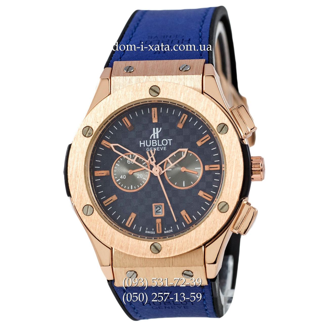 Мужские наручные часы Hublot 882888 Classic Fusion Blue-Gold-Blue, Хублот классик, реплика отличное качество!
