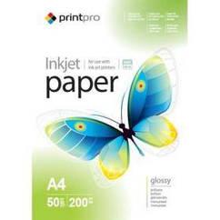 Фотобумага PrintPro глянцевая 200g/m2, A4, 50л (PGE200050A4)