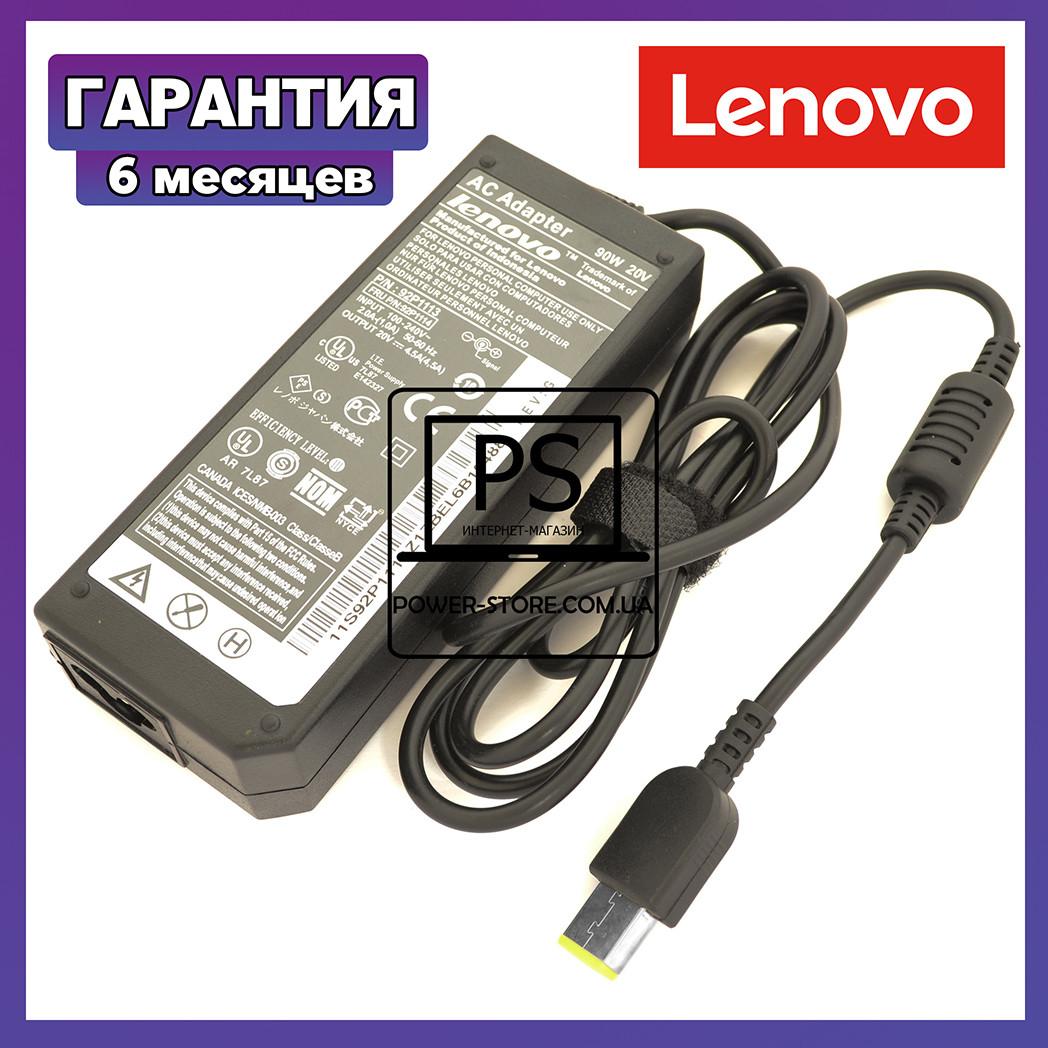 Блок питания для ноутбука LENOVO 20V 4.5A 90W square прямоугольный разъем