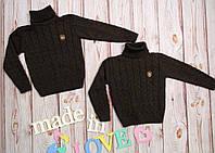 Детский вязанный свитер-гольф  на мальчика из акрила,хорошее качество!4 расцветки