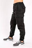 Брюки карго (cargo) милитари чёрные MAW Manandwolf street wear рип-стоп (50/50)