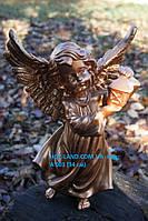 Ангел с фонариком 34 см. (бронза)