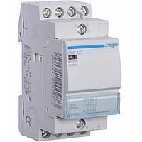 Контактор ESC427 25А, 2НО+2НЗ, 230В модульный Hager