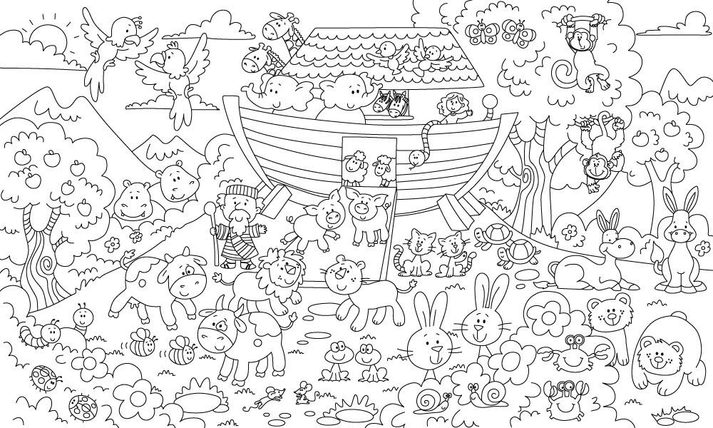 Обои-раскраски Ноев ковчег  60*100 C-100014